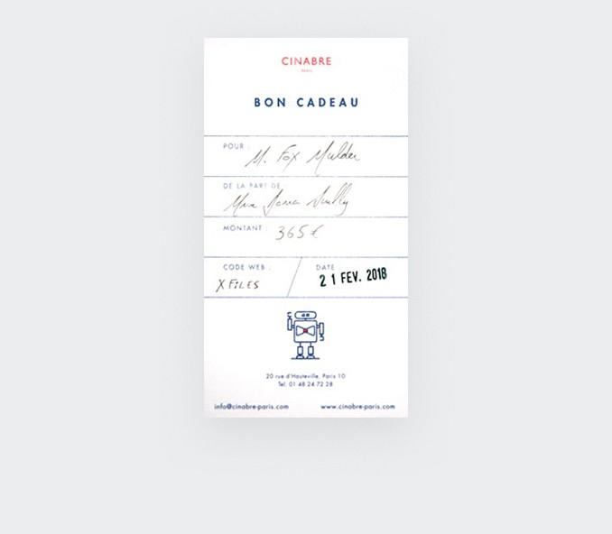 Sac - carte cadeau 570euros - Cinabre