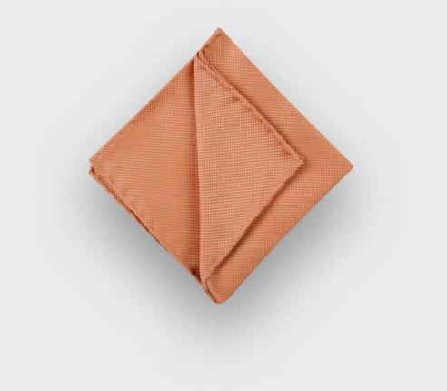 CINABRE Paris - Pocket square - Orange woven silk - Hand Made