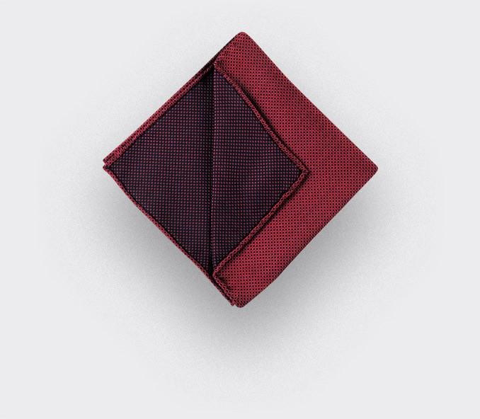 CINABRE Paris - Pocket Square - Pink birdseye - Handmade