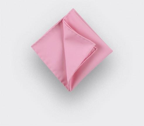 CINABRE Paris - Pocket Square - Pink coral - Handmade