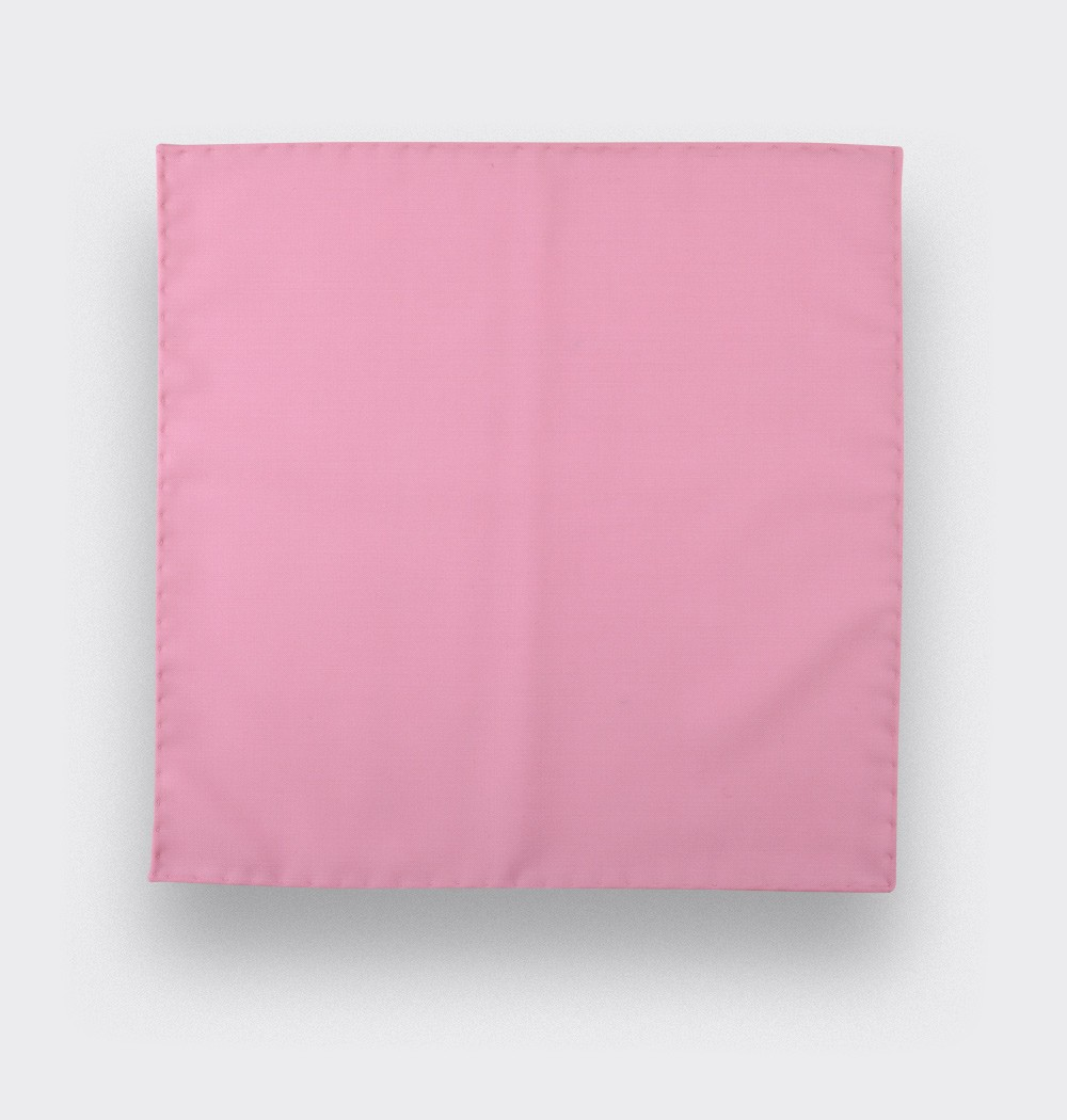 CINABRE Paris - Pocket Square - Pink coral - Handmade