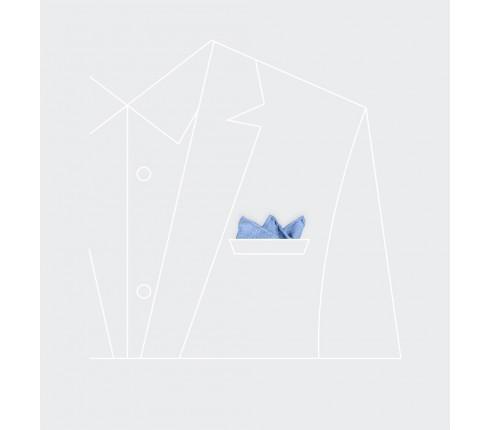 CINABRE Paris - Pochette - Maille Bleu Ciel - Fait Main