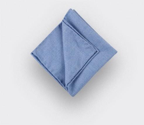 CINABRE Paris - Pocket square - Light Blue Mesh - Hand Made