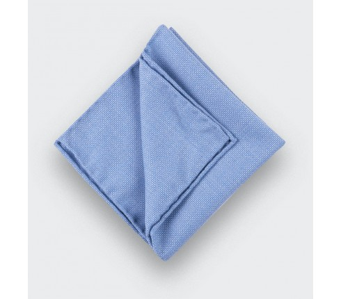 CINABRE Paris - Pocket square - Light Blue Mesh - Hand Made