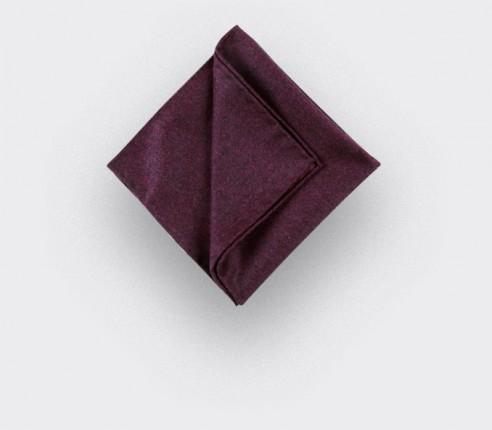 CINABRE Paris - Pocket Square - Burgundy Flannel - Handmade