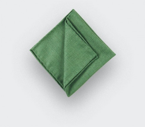 CINABRE Paris - Pocket square - Green Mesh - Hand Made