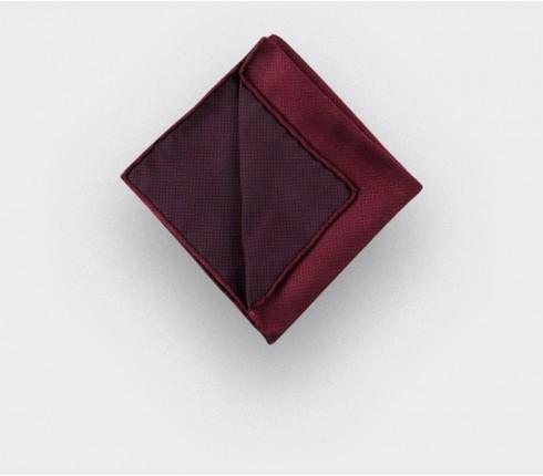 CINABRE Paris - Pocket Square - Burgundy birdseye - Handmade