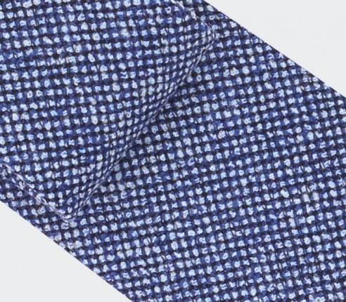 cravate météorite bleu denim - cinabre paris