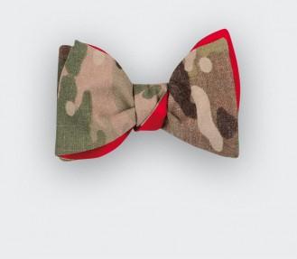 Bow tie US Army - CINABRE Paris - vintage military cotton and silk