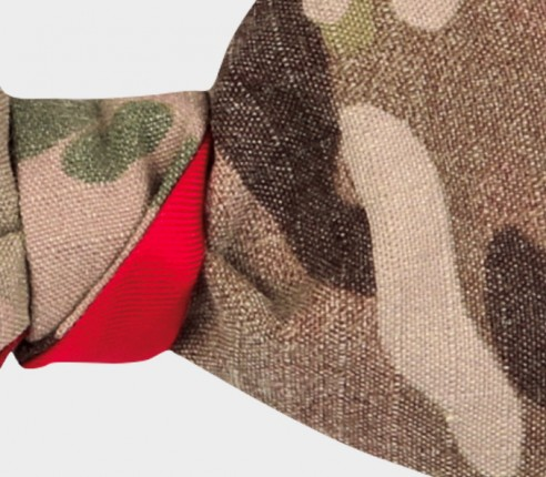 Bow tie US Army - CINABRE Paris - vintage military cotton and silk
