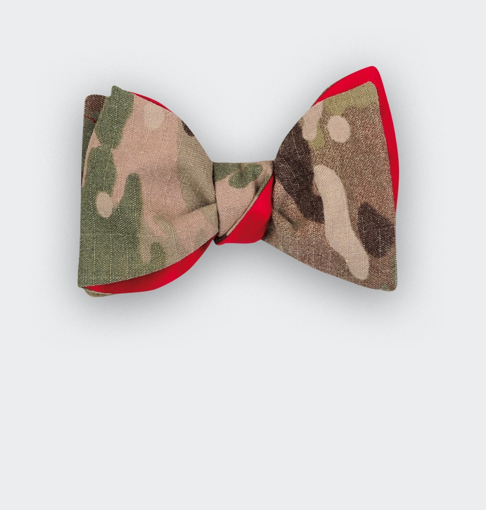 Noeud US Army - CINABRE Paris - coton militaire vintage et soie