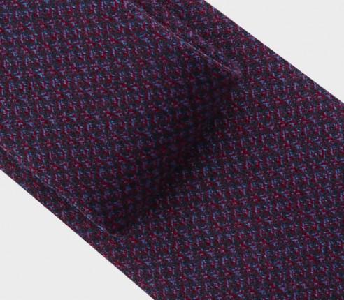 Cravate météorite bordeaux - Cinabre - Handmade