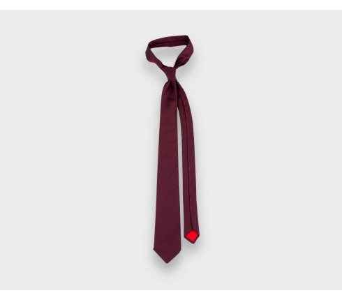 cravate lézard bordeaux - cinabre paris