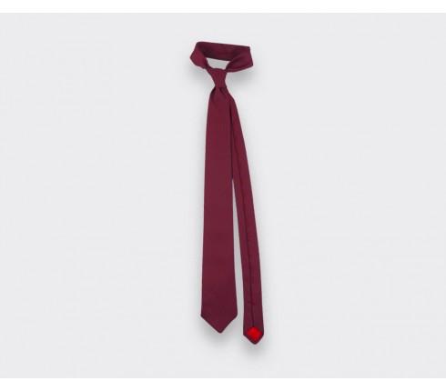 Cravate Soie tissée Bordeaux - Soie - Cinabre Paris