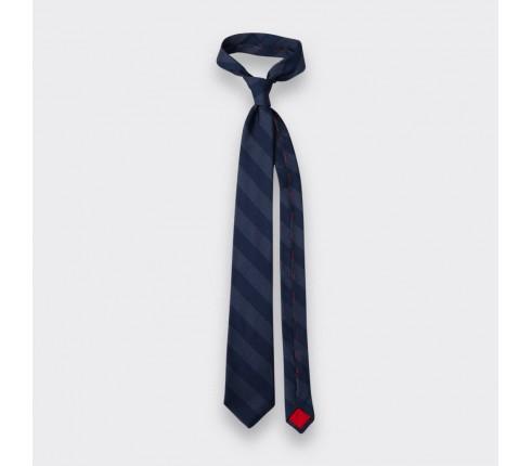 cravate club cinabre gris - soie - cinabre paris