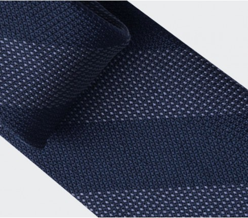 Grey Club Tie - silk - Cinabre Paris