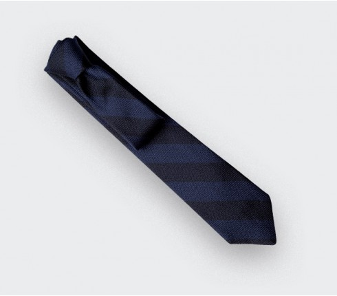 cravate club cinabre bleu - soie - cinabre paris