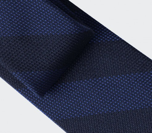 Blue Club Tie - silk - Cinabre Paris