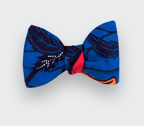 Indigo Wax Bow Tie - Cinabre Paris
