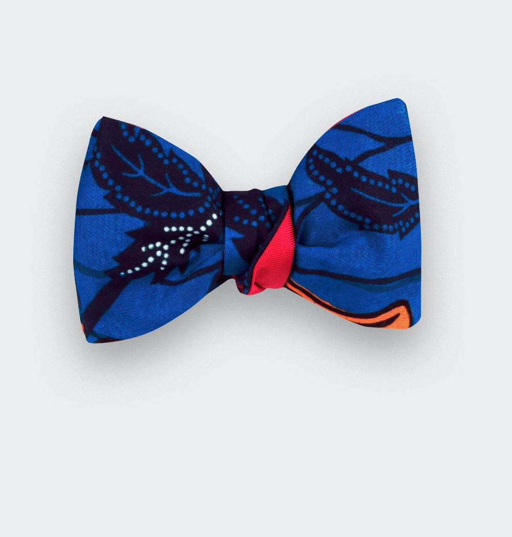 Noeud papillon Wax Indigo - Cinabre Paris