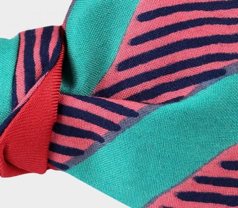 Green waves Wax Bow Tie - CINABRE Paris