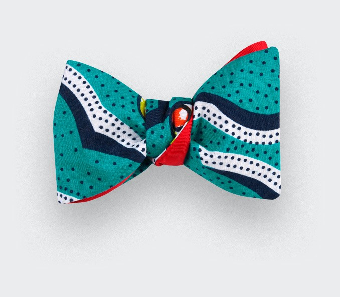 Polka-dot Wax Bow Tie - Cinabre Paris