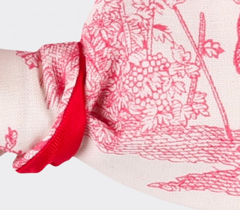 CINABRE PARIS - Noeud Papillon - Toile de Jouy rouge - Fait main