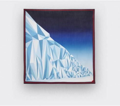 Foulard en cachemire modal CINABRE, The Wall