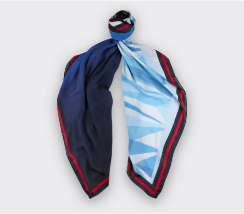 The Wall scarf in cashmere and modal by Cinabre