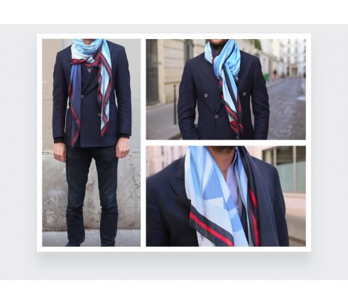 Foulard en cachemire modal CINABRE, The Wall