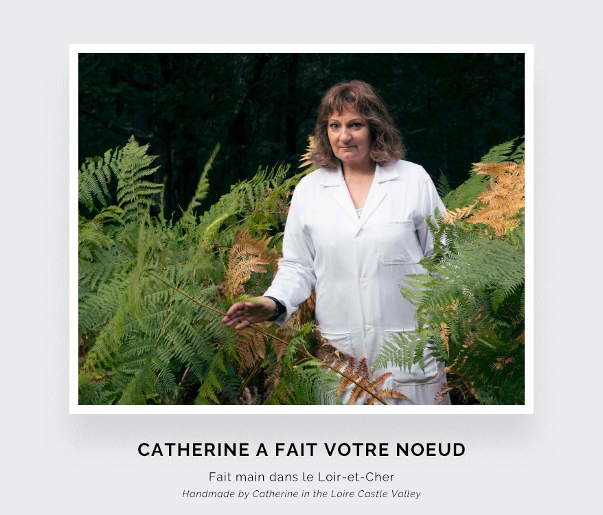 CINABRE PARIS - Noeud Papillon - Toile de Jouy bleu - Fait main