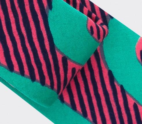 Tie green waves Cinabre Paris