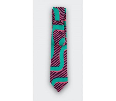 Cravate Vagues verte Cinabre Paris