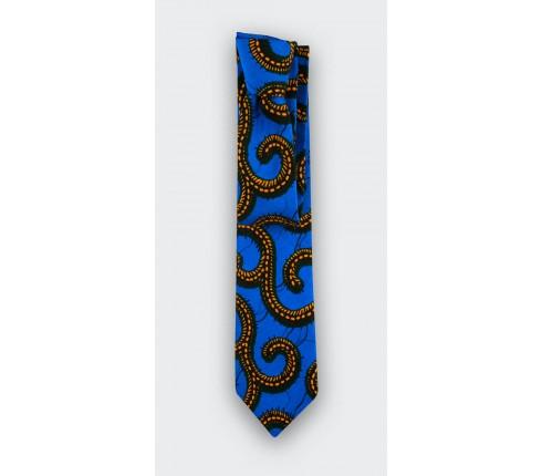 Tie wax yellow blue Cinabre Paris