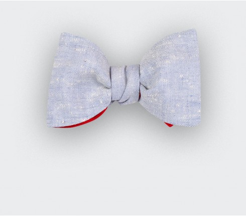 Light Blue Chambray Bow tie - Cinabre Paris