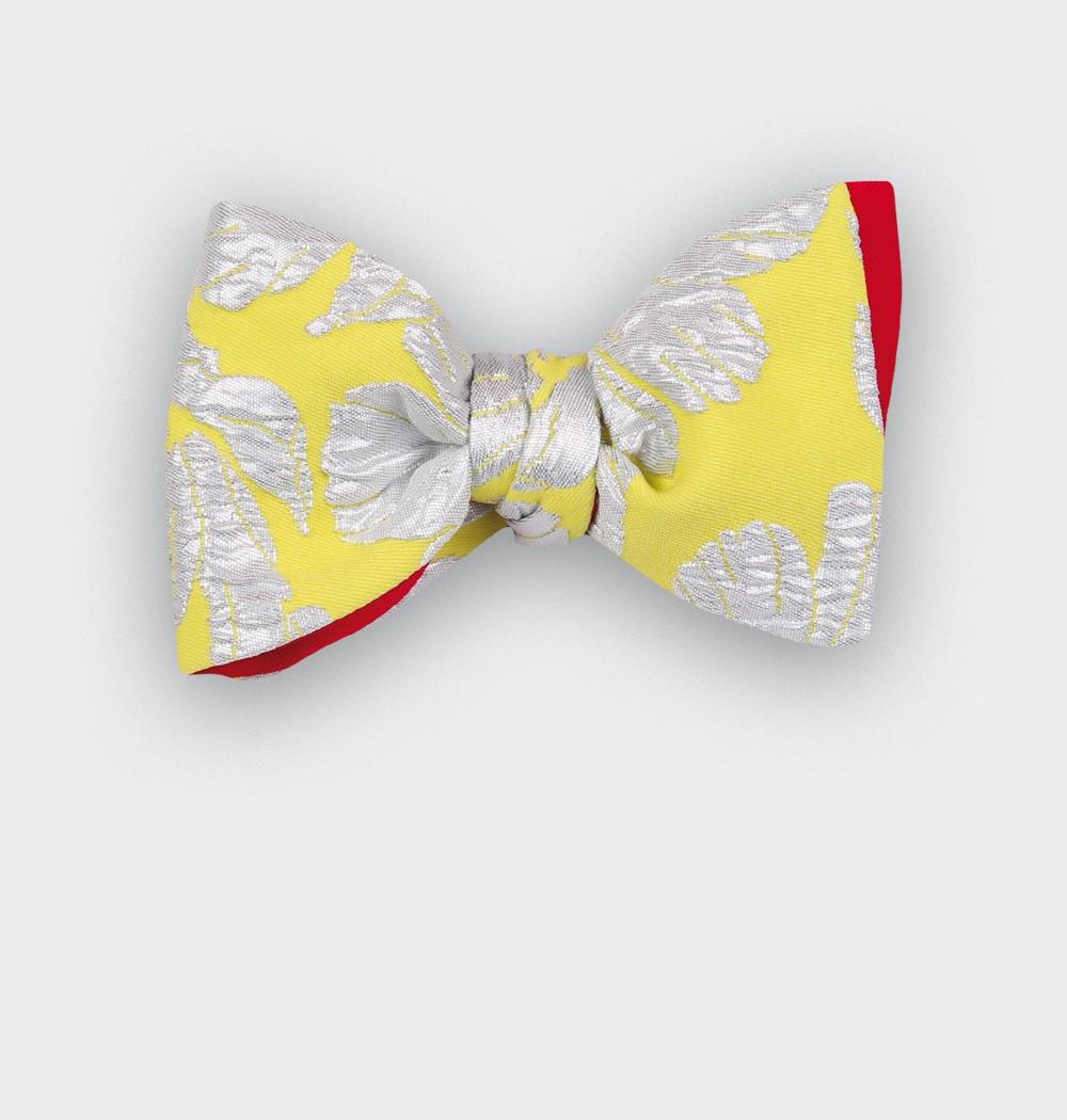 Silver flowers Bow tie - cinabre paris