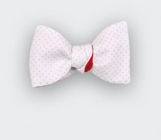 Grey Polka Dot Bow tie - CINABRE Paris