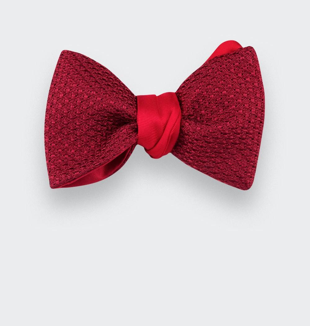 Red Grenadine Silk Bow Tie