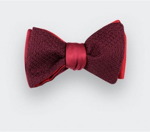 Burgundy Grenadine Silk Bow Tie