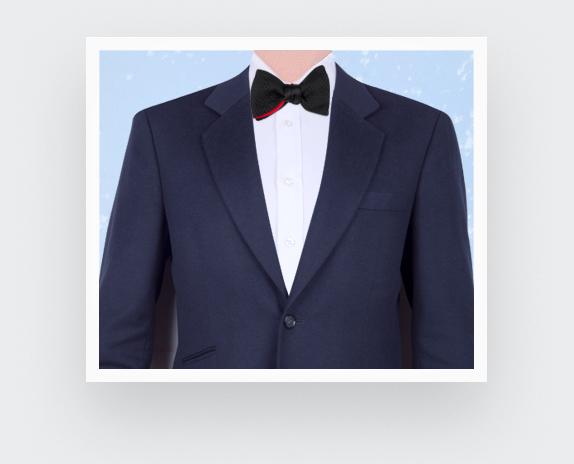 Black Grenadine Silk Bow Tie