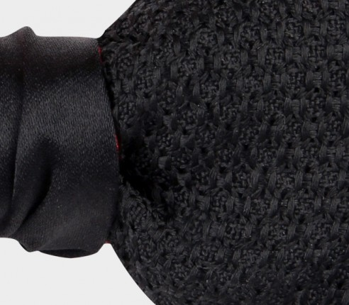 Black Grenadine Silk Bow Tie