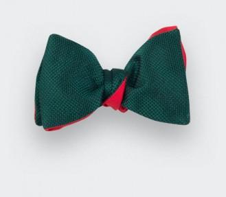 Green Woven Silk bow tie