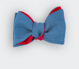 Sky Blue Maille Bow Tie