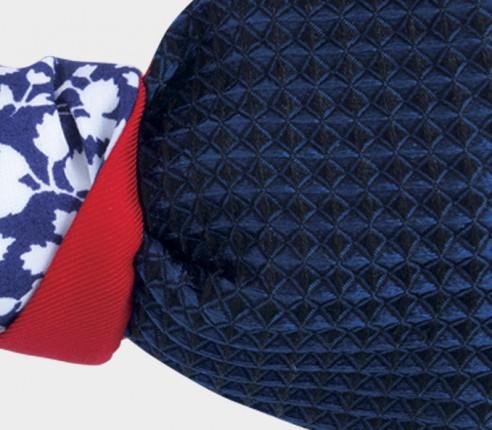 nœud papillon liberty bleu marine - Cinabre Paris - soie coton
