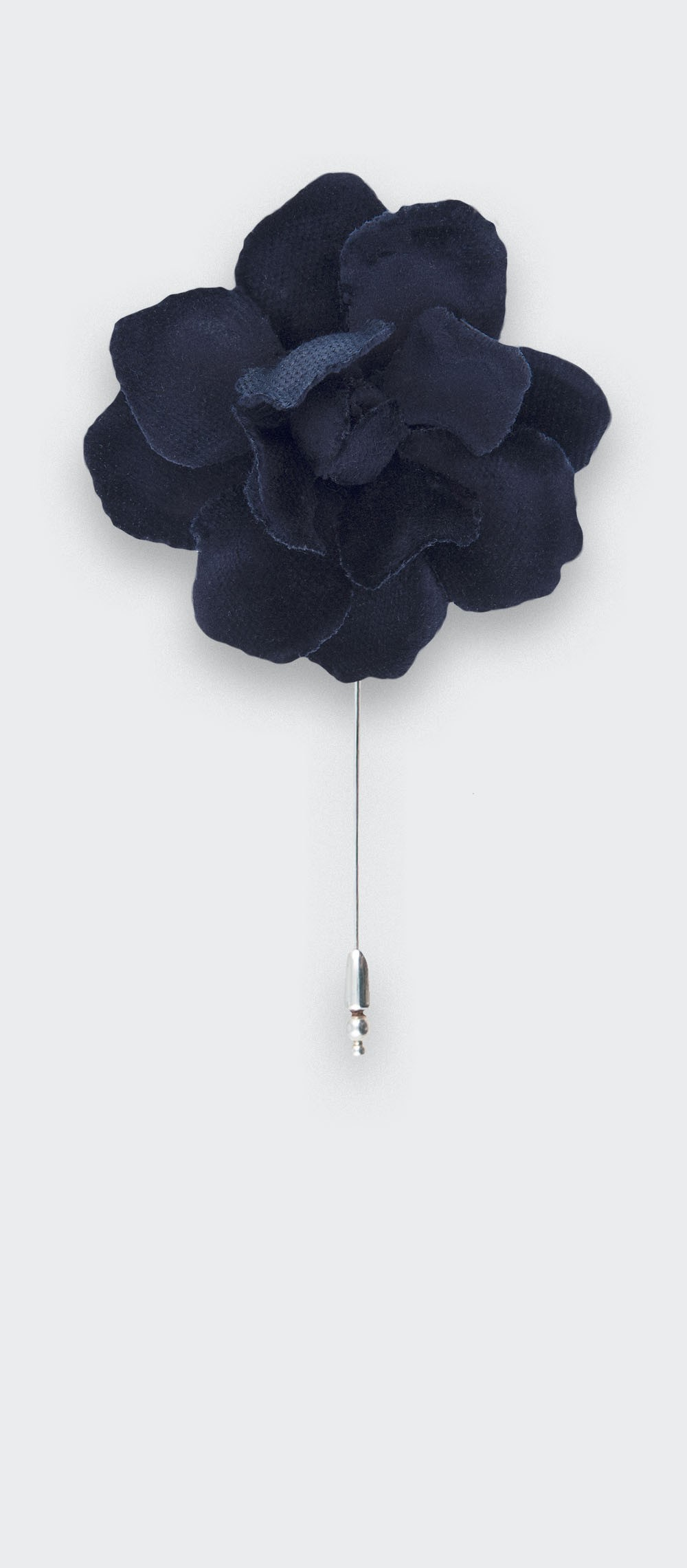 Blue velvet lapel pin S - cotton - cinabre paris