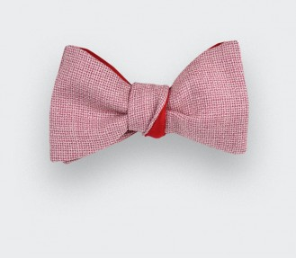 Flecked Pink mesh Bow Tie