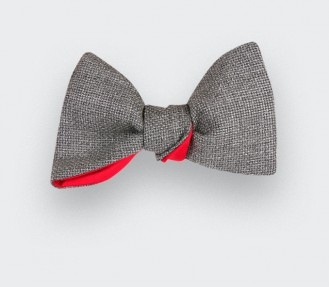 Grey Maille Bow Tie