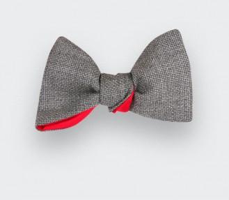 Grey Mesh Bow Tie