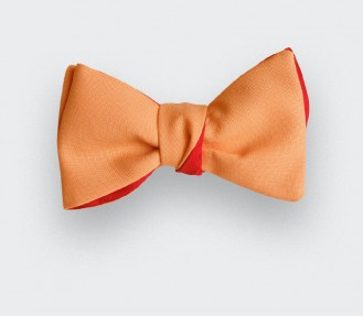 Orange Coral Bow Tie
