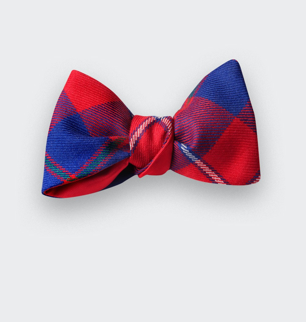 noeud papillon tartan rouge galloway - cinabre paris
